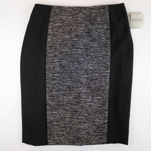 3/$60 Kasper Black White Paneled Pencil Skirt 8